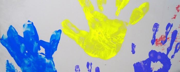 paint-printed-hands-of-children
